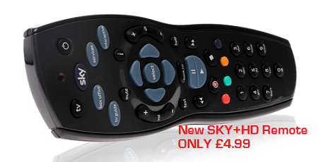 Sky HD remote Black £4.99