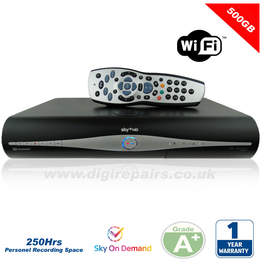 DRX 890 WL Wifi Sky+ Plus HD box with 500GB Hard Drive