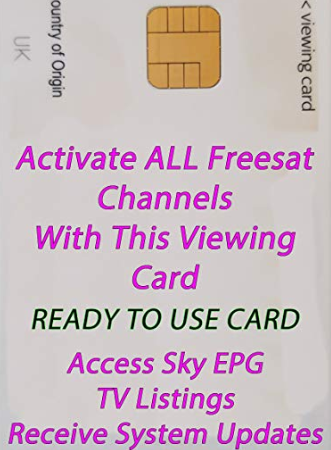 FREESAT VIEWING CARD ACTIVATED FOR UK CHANNELS